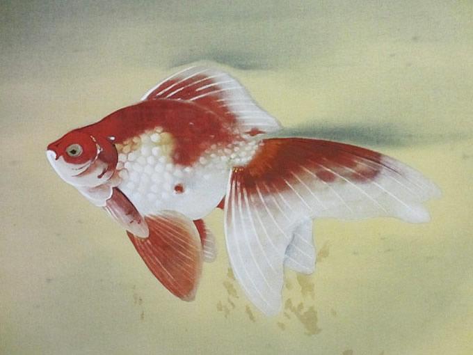 川端龍子の工芸画(金魚)